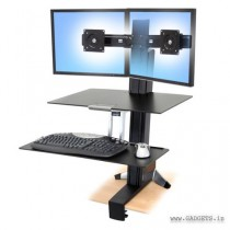 Ergotron WorkFit-S Dual Monitor with Worksurface Plus 33-349-200