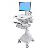 Ergotron StyleView Cart with LCD Pivot, LiFe Powered SV44-1392-B