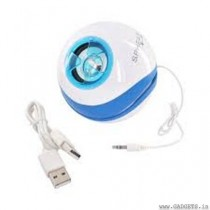 OrigAudio Sphear USB Stereo Speaker (White Blue)