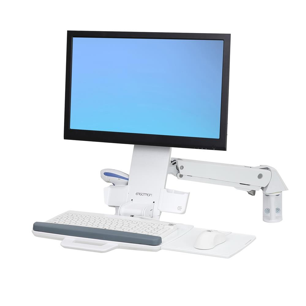 ERGOTRON StyleView Sit-Stand Combo Arm Bright White (45-266-216)