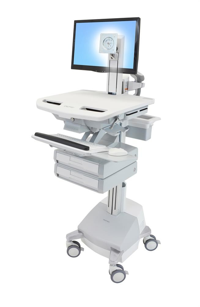 Ergotron StyleView Cart with LCD Pivot, SLA Powered, 2 SV44-1321