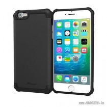 Roocase Exec Tough Pro Slim Fit Armor Case Cover for Apple iPhone 6 Plus / 6S Plus (2015), Granite Black