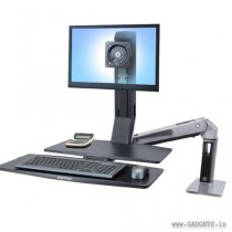Ergotron WorkFit-A Single LD with Worksurface Plus 24-317-026