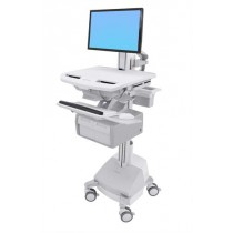 Ergotron StyleView Cart with LCD Pivot, SLA Powered, Tall SV44-13C1-6