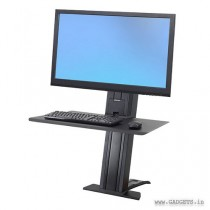 Ergotron WorkFit-SR Hvy Monitor Sit-Stand Desktop Workstation Short Surface Black 33-421-085