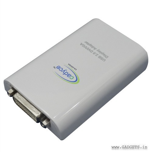 Cadyce USB 2.0 DVI VGA Display Adapter CA-UDVGA