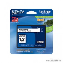 BROTHER TZe231 12mm Black on White tape for PTouch PT-200