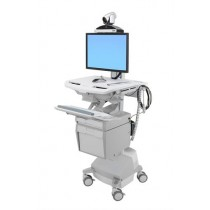 Ergotron StyleView Telemedicine Cart with Single Monitor SV44-53T1-6