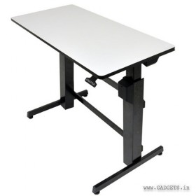 Ergotron WorkFit-D Sit-Stand Desk Light Grey 24-271-926