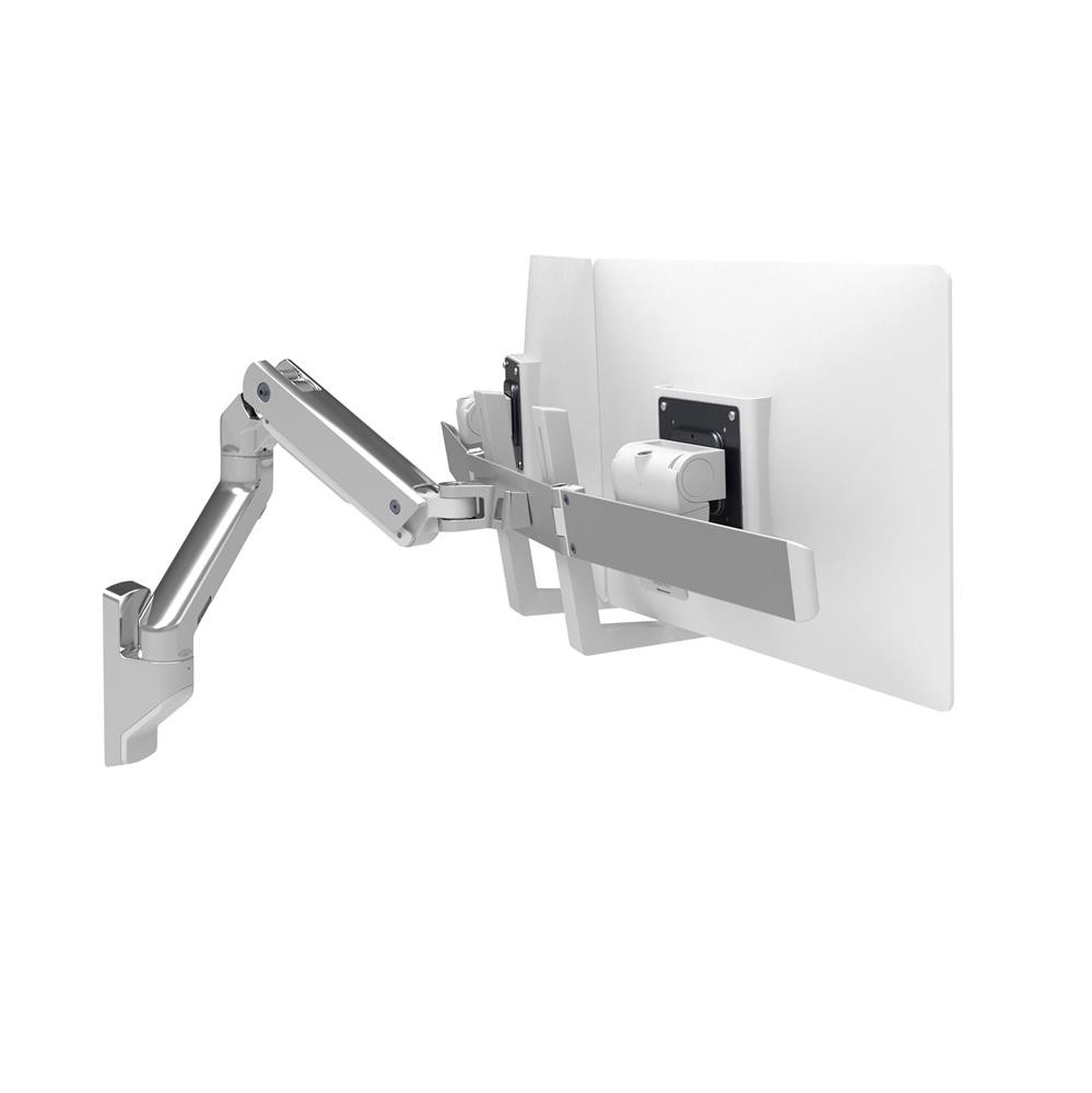 Ergotron HX Wall Dual Monitor Arm, Polished 45-479-026