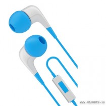 Cygnett 2XS Wired Earphone with Mic White Blue CY1720HEWIR
