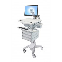 Ergotron StyleView Cart with LCD Arm, 9 Drawers SV43-1290-0