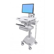Ergotron StyleView Cart with LCD Pivot, LiFe Powered, Double SV44-13A2-5