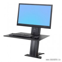 Ergotron WorkFit-SR Hvy Monitor Sit-Stand Desktop Workstation Black 33-416-085