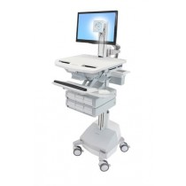 Ergotron StyleView Cart with LCD Pivot, SLA Powered SV44-1361-6