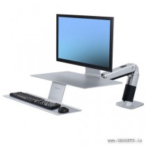 Ergotron WorkFit-A with Suspended Keyboard Platinum 24-422-227